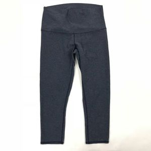 Lululemon Leggings Wunder Under Crop Cadet Blue